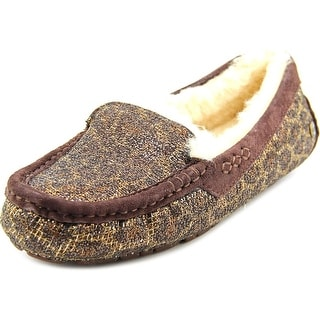 Ugg Australia Ansley Glitter Women Moc Toe Canvas Brown Slipper