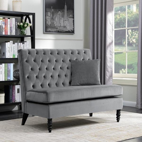 Bedroom Settee Bench Bedroom Chairs For Teenagers Black Bedroom Paint Ideas Bedroom Accessories For Teenage Guys: Shop Belleze Modern Button Tufted Style Settee Bedroom