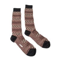 Missoni GM00CMU5243 0001 Maroon/Black Knee Length Socks