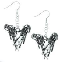 """Rock Rebel Edward Scissorhands """"Hands"""" Earrings"""