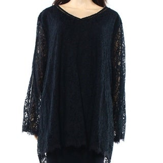 Style & Co. NEW Black Womens Size 1X Plus Lace V-Neck Swing Tunic Top|https://ak1.ostkcdn.com/images/products/is/images/direct/e7dafab60e553c1a16ca6612ae08ba0d3ad0ba74/Style-%26-Co.-NEW-Black-Womens-Size-1X-Plus-Lace-V-Neck-Swing-Tunic-Top.jpg?_ostk_perf_=percv&impolicy=medium