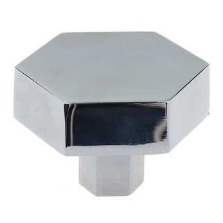 Link to GlideRite 1-1/2 Inch Polished Chrome Hexagon Cabinet Knobs, 5-Pack - Polished Chrome Similar Items in Hardware