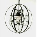 "FOUCAULT'S ORB CRYSTAL CHANDELIER LIGHTING! H17.5"" X W17.5"" - Thumbnail 0"