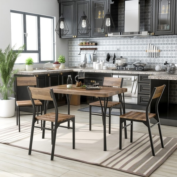 Furniture of America Nama Industrial 5-piece Dining Table Set. Opens flyout.