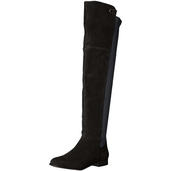 Chinese Laundry Womens Robin Closed Toe Over Knee Fashion Boots, Black, Size 5.5