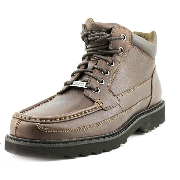 Rockport Dougland Men Moc Toe Leather Brown Boot