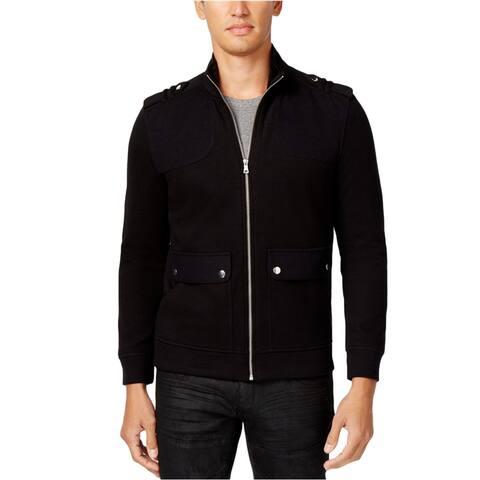 I-N-C Mens Faux-Fur Knit Jacket, Black, Large