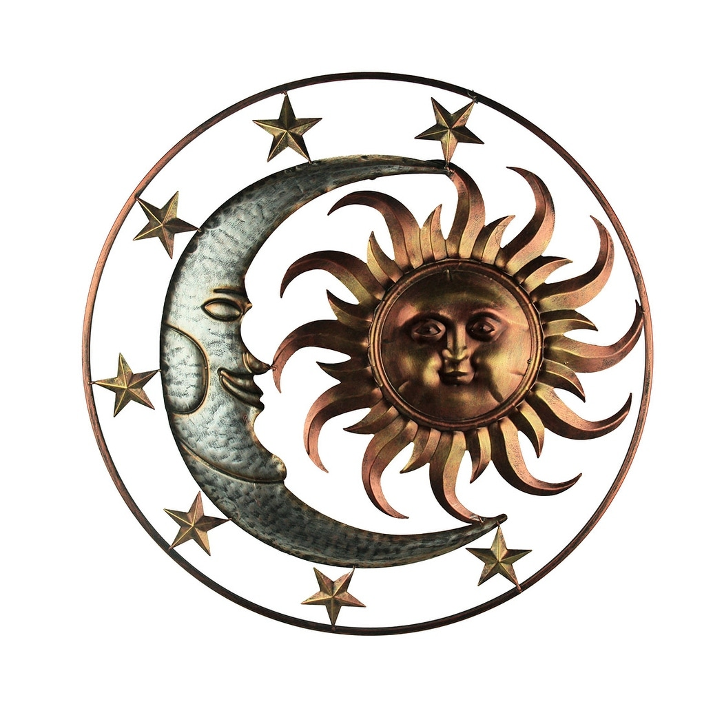 Metal Celestial Sun Moon And Stars