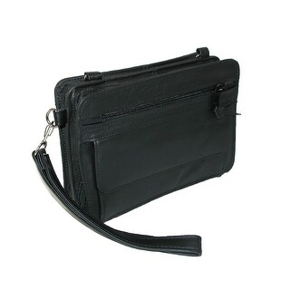 CTM® Men's Leather Gun Conceal Carry Waist Pack Bag - One size