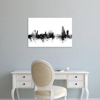 Easy Art Prints Michael Tompsett's 'Basel Switzerland Skyline' Premium Canvas Art