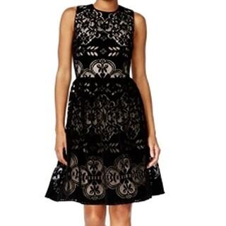 Tommy Hilfiger Women's Velvet Lace Party Dress 8