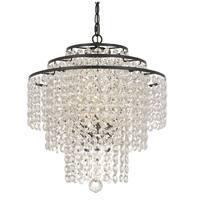 """elight DESIGN ED12603 3 Light 18"""" Wide Crystal Chandelier with Crystal Strands"""