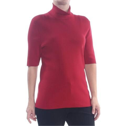 Anne Klein Womens Turtleneck Pullover Sweater