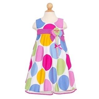 Bonnie Jean Baby Girls Pastel Dot Balloon First Birthday Dress 12-24M