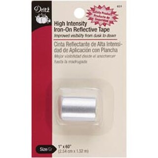 "Gray - High Intensity Iron-On Reflective Tape 1""X60"""