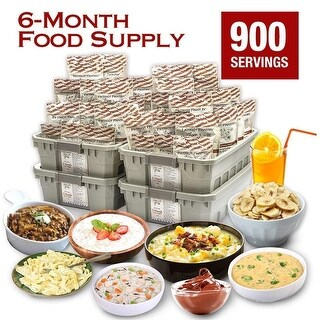 6-Month Emergency Food Supply 900 Adult Servings