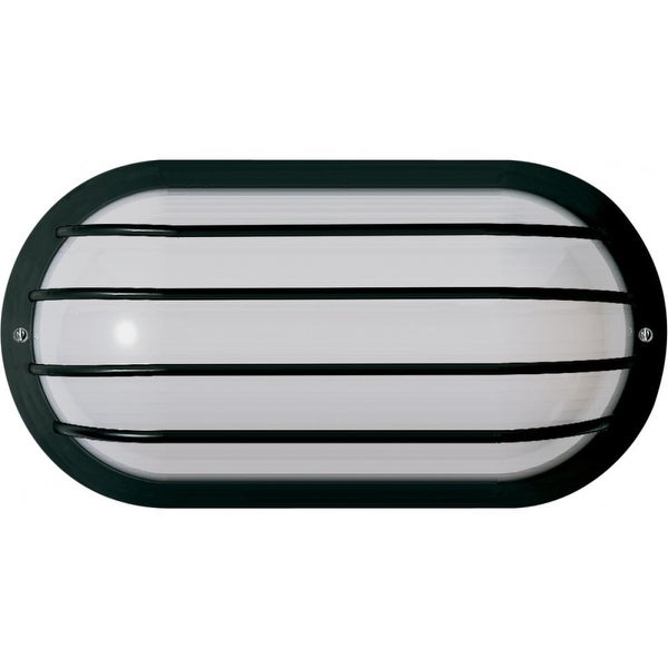 """Nuvo Lighting 77/857 1-Light 10"""" Tall Outdoor Wall Sconce with Frosted Glass Shade - ADA Compliant - Black - n/a"""