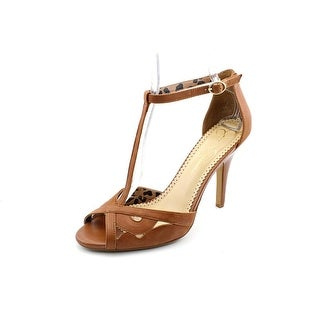 Jessica Simpson Jeraldine Women Open Toe Leather Brown Sandals
