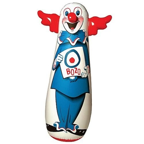 "Bozo The Clown Inflatable 46"" Bozo Bop Punching Bag"