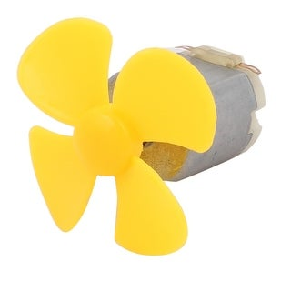 DC 3V 0.13A 6600RPM Strong Force Motor 4 Vanes Yellow Propeller 40mmx2mm