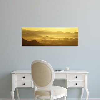 Easy Art Prints Panoramic Images's 'Mist Hills Miyazaki Japan' Premium Canvas Art