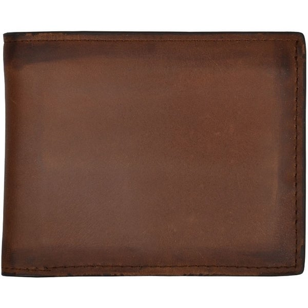 3D Western Wallet Mens Leather Bifold Burnished Brown - One size