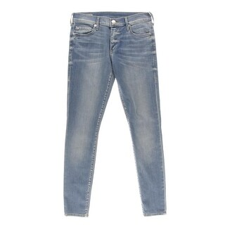 True Religion Womens Halle Super Skinny Mid-Rise Skinny Jeans