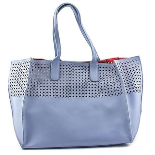 Emilie M. La Mar Perforated Tote Women Leather Tote - Blue