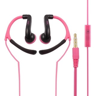 Smartphone Over-the-ear Style Microphone In-ear Headset Earphone Magenta
