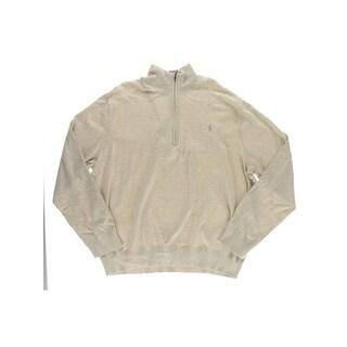Polo Ralph Lauren Mens 1/2 Zip Sweater Cotton Heathered - XxL