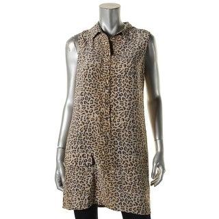 Equipment Femme Womens Casual Top Animal Print Sleeveless - s