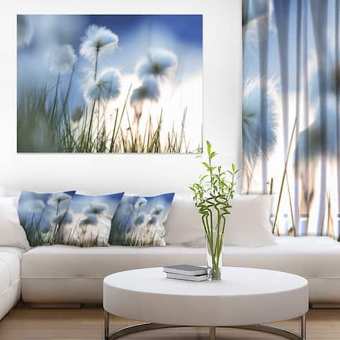 Beautiful Polar White Flowers - Floral Artwork Print on Canvas
