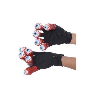 Rubies Beetlejuice Gloves with Eyes - Black