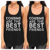 Cousins The Best Friends White Family Matching Cute Graphic Tanks