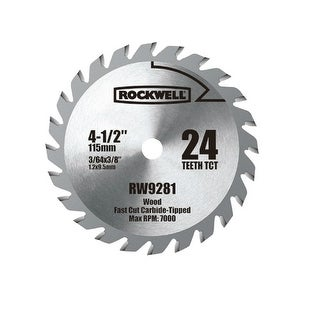 "Rockwell RW9281 Carbide Tipped Saw Blade, 4-1/2"", 24 Teeth"