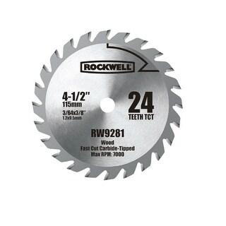"Rockwell RW9281 Carbide Tipped Saw Blade, 4-1/2"", 24 Teeth"