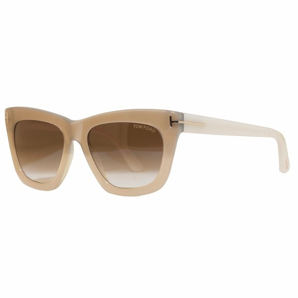 Tom Ford Celina TF361 34F Pearl/Ivory Brown Gradient Women's Square Sunglasses - pearl gold - 55mm-18mm-140mm