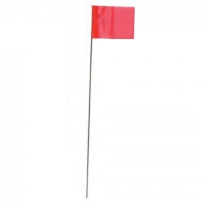 CH Hanson 15275 Fluorescent Marking Stake Flag, 15, Glo Orange, 10-Pack