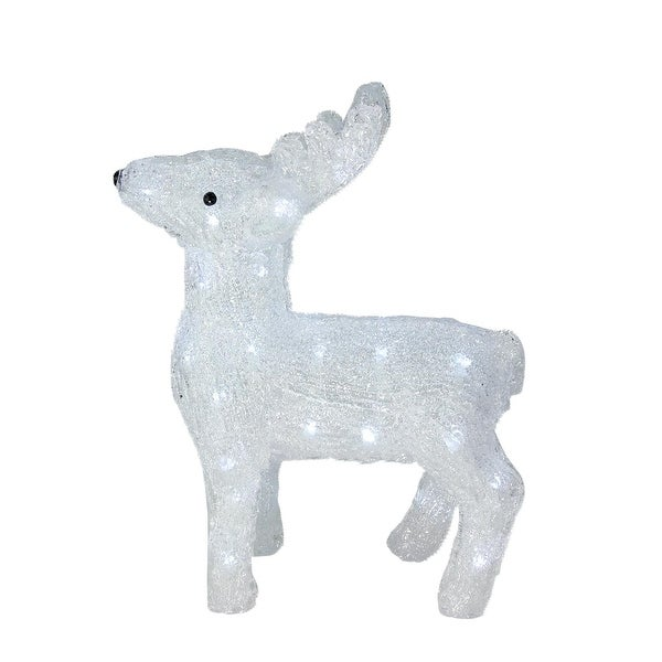 "15"" Lighted Commercial Grade Acrylic Baby Reindeer Christmas Display Decoration"