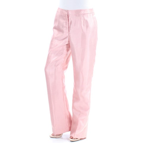 LE SUIT Womens Pink Straight leg Wear To Work Pants Size: 8