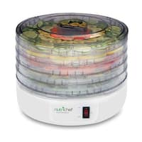 Electric Countertop Food Dehydrator, Food Preserver (White)
