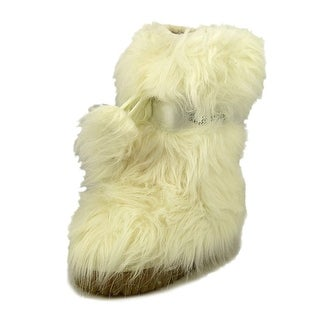 Guess Chateau Youth Round Toe Synthetic White Winter Boot
