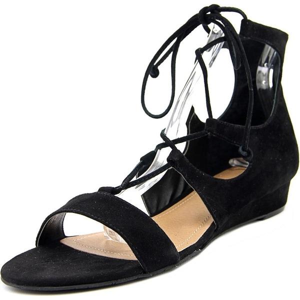 Tahari Camden Women Open Toe Suede Black Gladiator Sandal