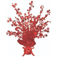 Club Pack of 12 Red Star Gleam 'N Burst Centerpiece Party Decorations 15""