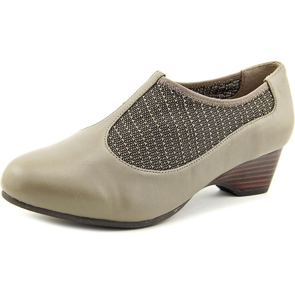 Bella Vita Petra Women W Round Toe Leather Gray Loafer