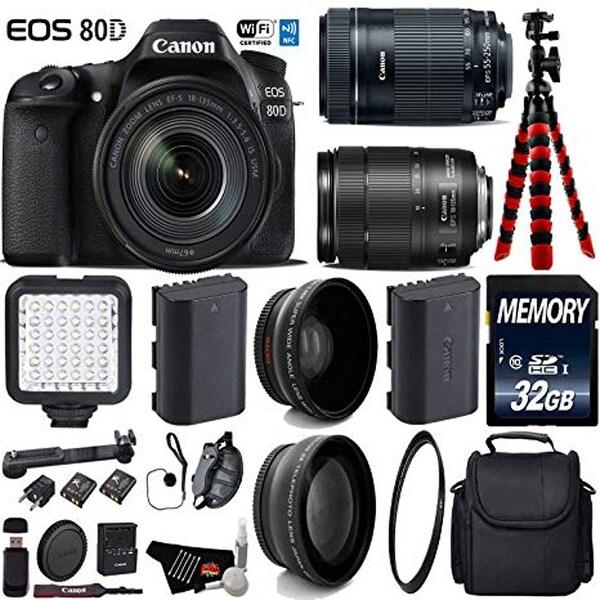 Shop Canon EOS 80D DSLR Camera with 18-135mm STM Lens & 55