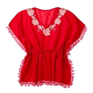 Azul Little Girls Fuchsia Floral Embroidered Pompom Detail Kaftan|https://ak1.ostkcdn.com/images/products/is/images/direct/e7e972b7ae2372f54762cd7c139d9fffadaebbda/Azul-Little-Girls-Fuchsia-Floral-Embroidered-Pompom-Detail-Kaftan-2T-7.jpg?impolicy=medium