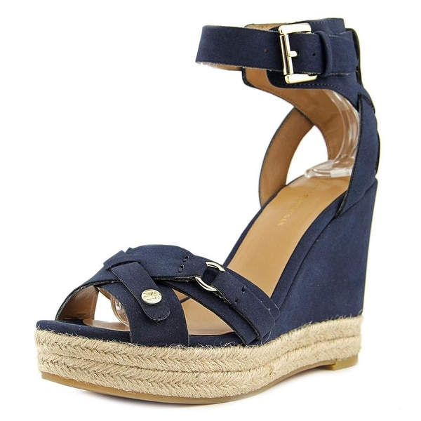 ff88ca2124f Shop Tommy Hilfiger Velvet 2 Women Open Toe Synthetic Wedge Sandal ...