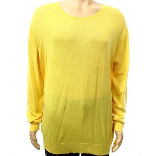Gant NEW Yellow Mens Size 2XL Crewneck Knitted Pull-Over Sweater