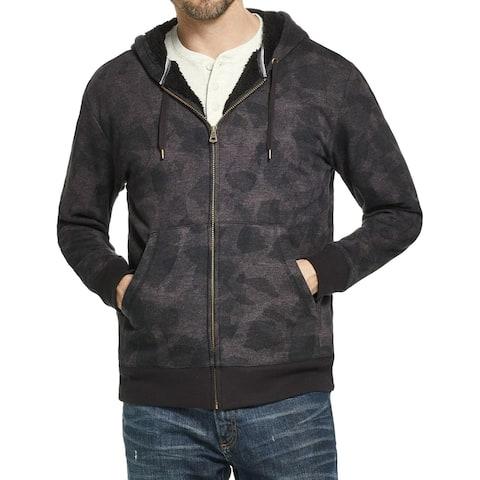 Weatherproof Mens Hoodie Large Full Zip Printed Sherpa